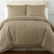 Royal Velvet® 400tc Damask Stripe Egyptian Cotton Comforter Set