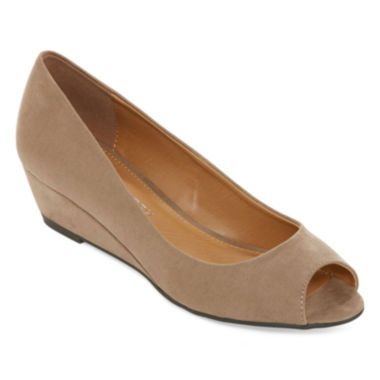 jcpenney.com | CL by Laundry Hottest Peep-Toe Wedge Pumps