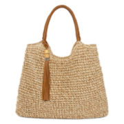 Straw Studios Straw Hobo Bag