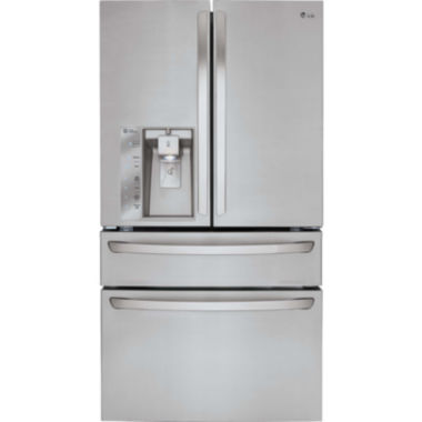 jcpenney.com | LG 22.7 cu. ft. Large-Capacity Counter-Depth French Door Refrigerator with CustomChill® Drawer