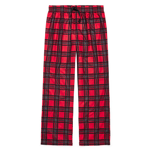 Arizona BMJ Red Plaid Sleep Pant- Boys 4-20 & Husky