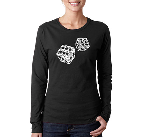 Los Angeles Pop Art Different Rolls Thrown In The Game Of Craps Long Sleeve Graphic T-Shirt