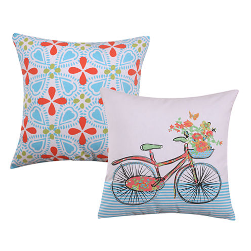 Barefoot Bungalow Esme 2-Pack Square Throw Pillow