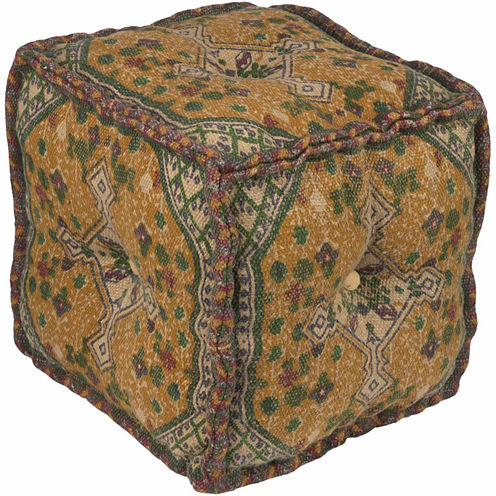 Decor 140 Aldersgate Medallion Pouf Ottoman