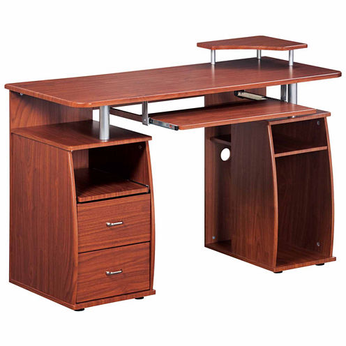 RTA Products LLC Techni Mobili Complete Computer Workstation Desk with Storage