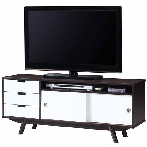 RTA Products LLC Techni Mobili Modern Wood Veneer TV Stand