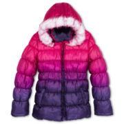 XOXO® Dip-Dyed Puffer Jacket - Girls Plus