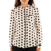 Worthington® Long-Sleeve Pocket Blouse - Petite