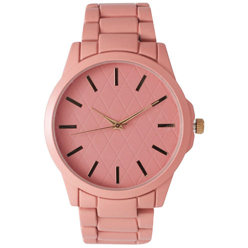Olivia Pratt Womens Light Pink Bracelet Watch 14705
