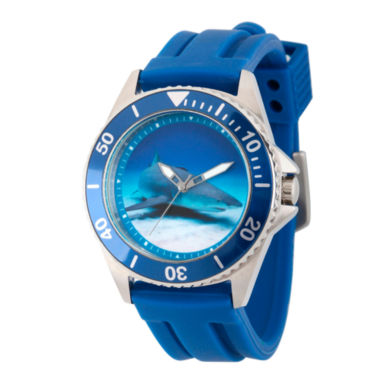 jcpenney.com | Discovery Expedition Mens Blue Rubber Shark Watch