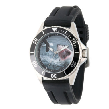 jcpenney.com | Discovery Expedition Mens Black Rubber Shark Watch