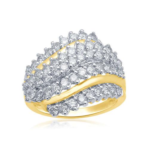 2CT. T.W. Diamond 10K Yellow Gold Ring