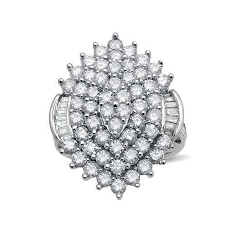 3 CT. T.W. Diamond 10K White Gold Ring