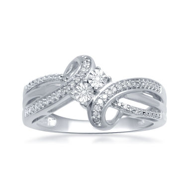 jcpenney.com | 1/10 CT. T.W. Diamond 2-Stone Ring In Sterling Silver