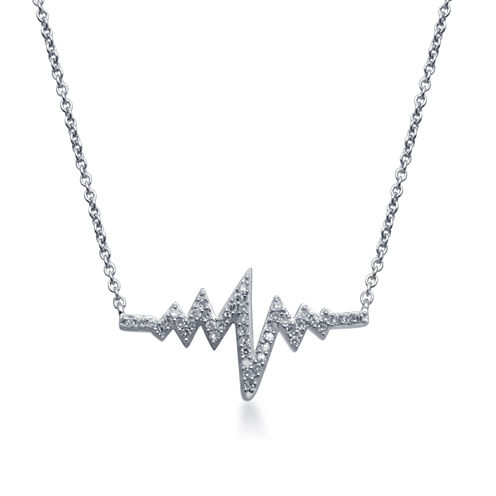 1/7 CT. T.W. Diamond Sterling Silver Necklace