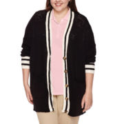 Arizona Long-Sleeve Varsity Cardigan - Juniors Plus