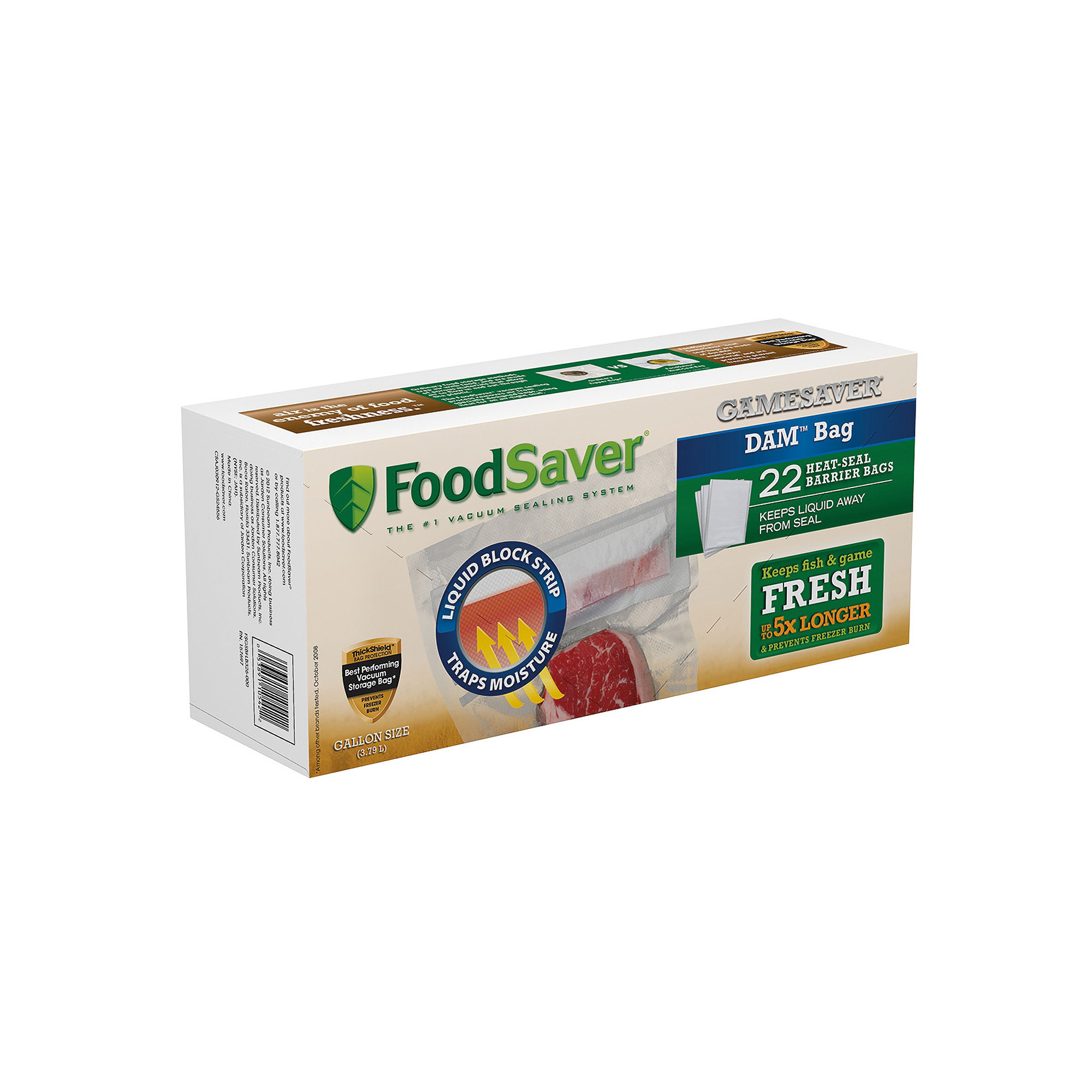 FoodSaver GameSaver DAM 22-pk. Gallon Heat-Seal Bags