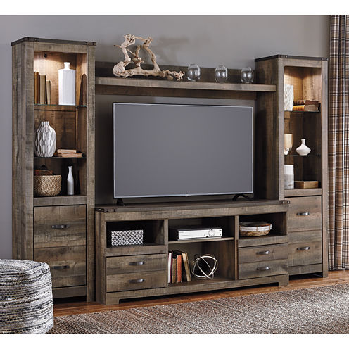 Signature Design By Ashley Trinell Entertainment Center Jcpenney