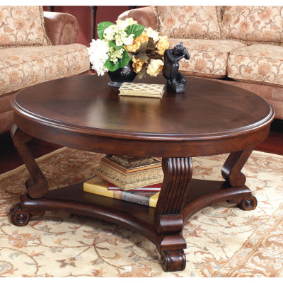Signature Design By Ashley Brookfield Cocktail Table JCPenney - Ashley larimer coffee table