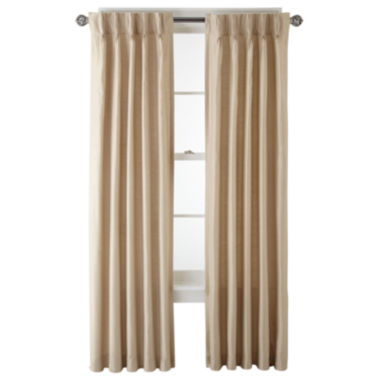 jcpenney.com | Royal Velvet® Supreme Pinch-Pleat/Back-Tab Lined Curtain Panel
