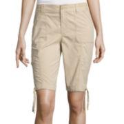 St. John's Bay® Secretly Slender Cargo Bermuda Shorts