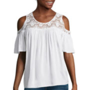 Stylus™ Cold-Shoulder Lace Top