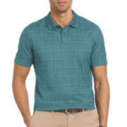 Van Heusen® Short-Sleeve Windowpane Polo