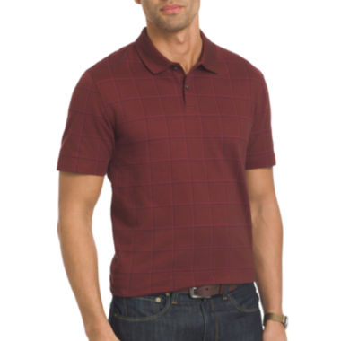 jcpenney.com | Van Heusen® Short-Sleeve Windowpane Polo