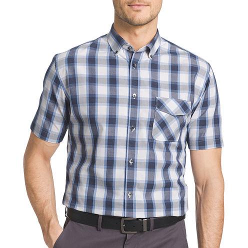 Van Heusen® Short-Sleeve Woven Button-Front Shirt