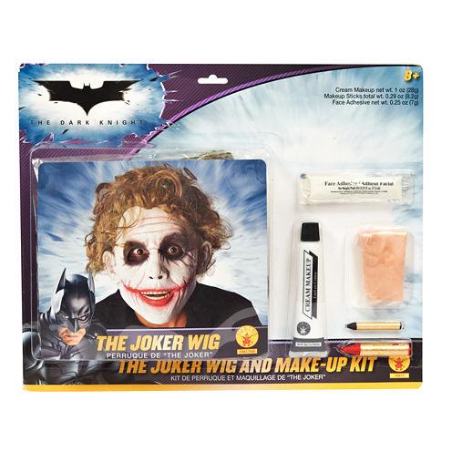 Batman Dark Knight - Deluxe Joker Wig / Makeup Accessory Kit (Adult)