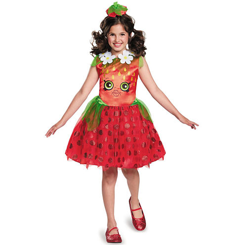 Shopkins Strawberry Kiss Girls Costume - Medium (7-8)