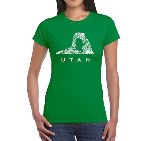 Los Angeles Pop Art Utah Graphic T-Shirt
