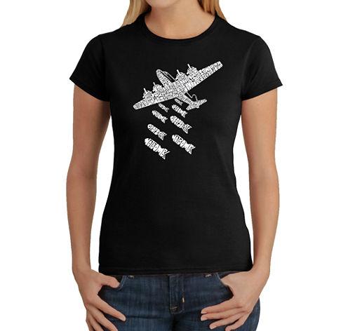 Los Angeles Pop Art Drop Beats Not Bombs Graphic T-Shirt