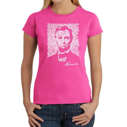 Los Angeles Pop Art Abraham Lincoln - Gettysburg Address Graphic T-Shirt