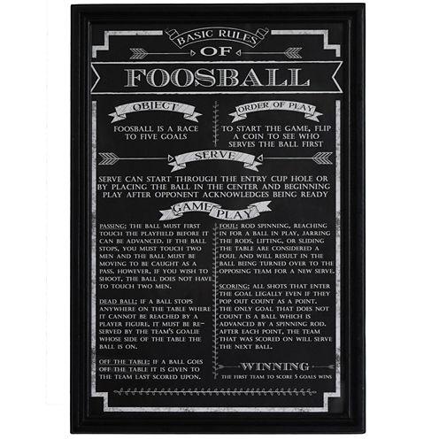 Hathaway Foosball Game Rules Print
