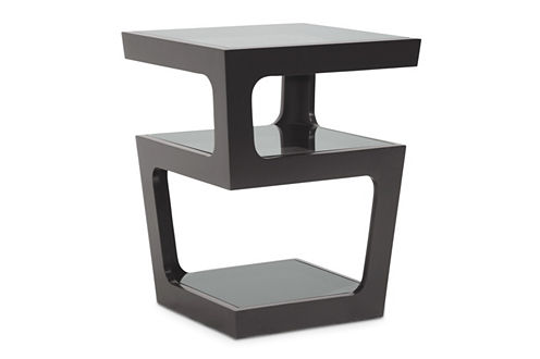 Baxton Studio Clara 3-Shelf End Table