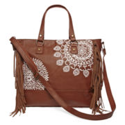 T-Shirt & Jeans™ Crochet Fringe Convertible Tote