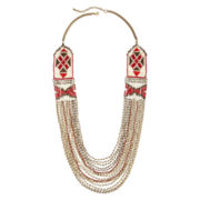 Decree® Seed Bead Multi-Row Necklace