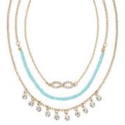 Decree® Seed Bead Drape Necklace