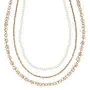 Carole Three-Row Choker Necklace