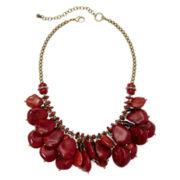 Aris by Treska Red Stone Shaky Bib Necklace
