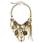 Aris by Treska Gold-Tone Disc and Charm Shaky Statement Necklace