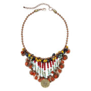 Aris by Treska Multicolor Bead Shaky Statement Bib Necklace