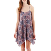 My Michelle® Sleeveless Batik T-Back Slip Dress