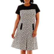 Dana Kay Short-Sleeve Fit-and-Flare Dress - Plus