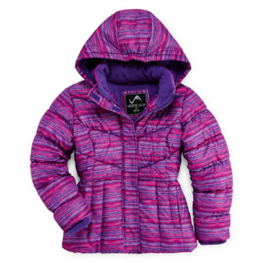 jcpenney.com | Vertical 9 Hooded Puffer Jacket - Girls 7-16 and Plus