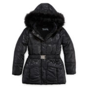 Rothschild Hooded Belted Puffer Jacket - Girls 7-16