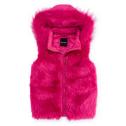 Me Jane Hooded Faux-Fur Vest - Girls 7-16