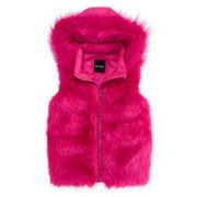 Me Jane Hooded Faux-Fur Vest - Girls 7-16