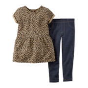 Carter's® Peplum Top and Jeggings - Baby Girls newborn-24m